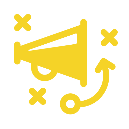 yellow Marketing strategy icon